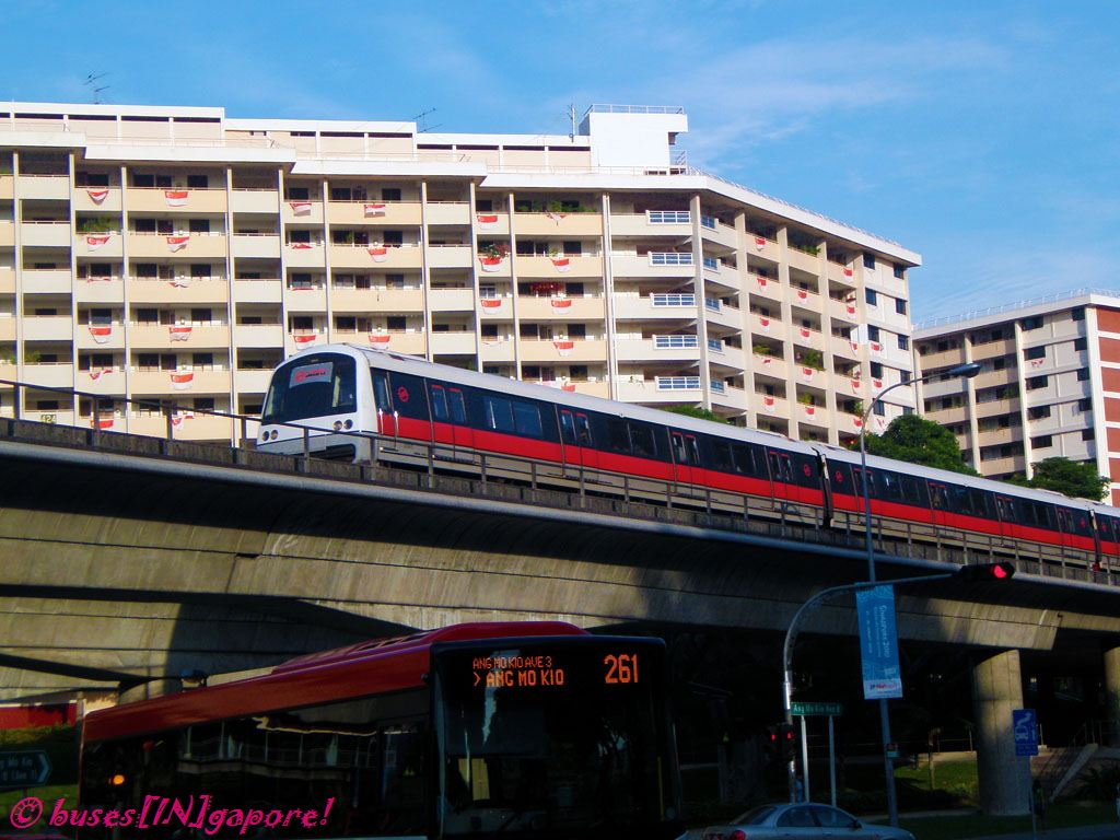 Singapores transport sytem, the MRT, the bus and cars