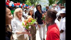 First Ladys visit Haiti