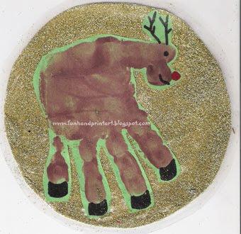 340 x 330 · 40 kB · jpeg, Handprint Footprint Reindeer Craft