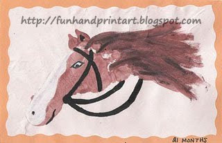 horse footprint art