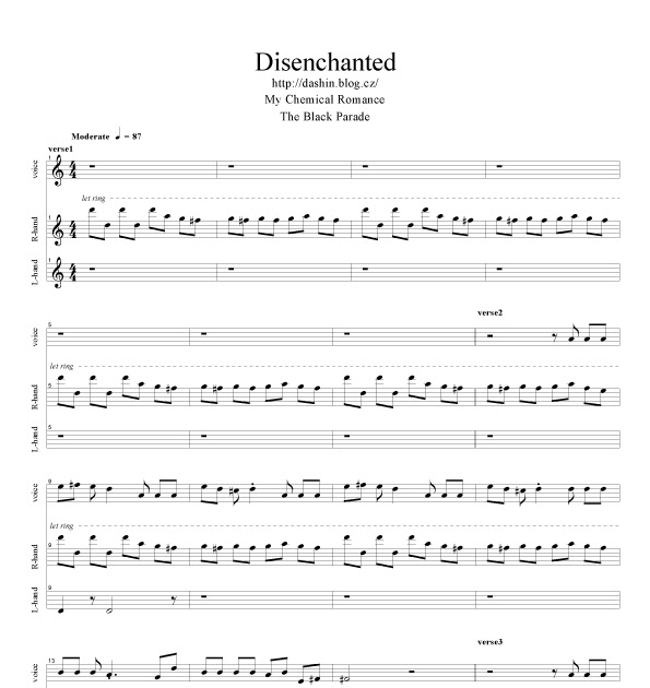 Alternative Sheet Music Disenchanted Sheet Music
