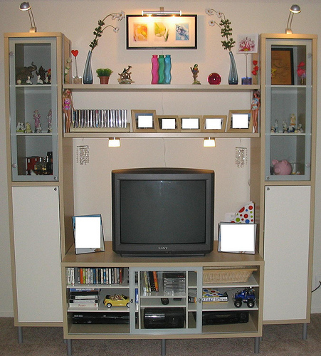 open box unlimited ikea magiker entertainment center. Black Bedroom Furniture Sets. Home Design Ideas