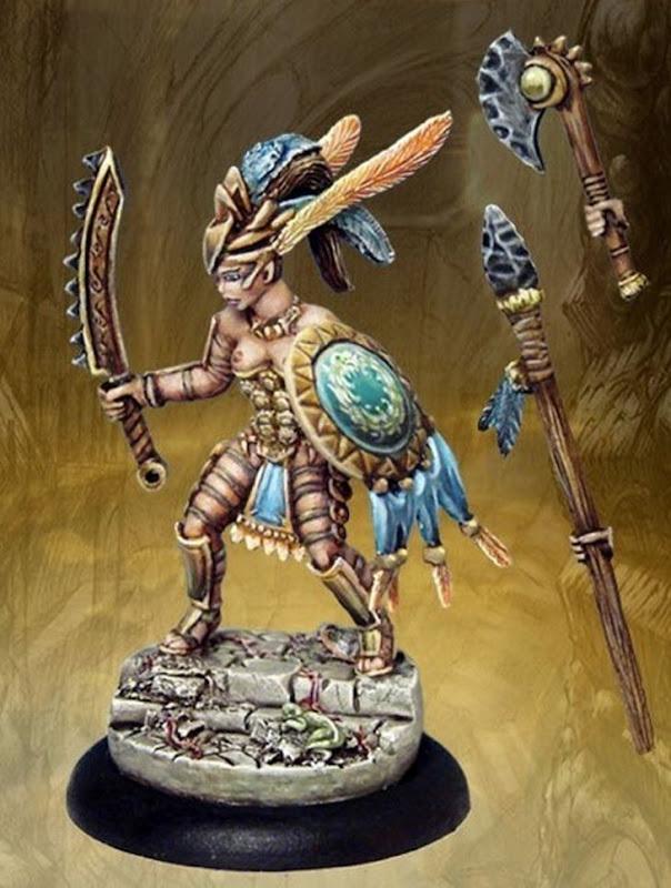 Amazonian Warhammer Army models