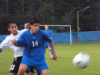 Hector Kunicheck controls the ball