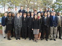 Back row from left to right-Tyler Maher, Dylan Quick, Brandon Shupe, Tyler Sauro-Raffensberger, Wes Martin, Matt Wescoe, Tresean Adam, Nick Staton, Carl Redd; On the front row from left to right-Taylor Blanton, Lauran Coleman-Webb, Vincent Woods, Nic Ely, Justin Blalock, Christopher LaGant, Cranston Bass, Alex Bennett, Travis Grissom, Carly Bohnenblusch, Anthony McNeil, Aaron Jack, Tyler Howard, Neil Hammerstein, Chase Morgan, Greg Bell; Ms. Howell is in the front