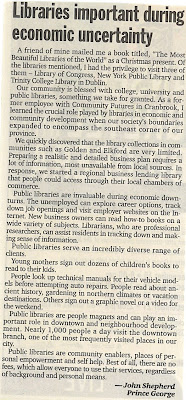 Libraries Important during economic uncertainty