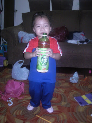 Ayex and her Real Leaf Green Tea