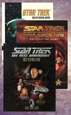 The Core Rulebooks of Lost Unicorn Games' Star Trek Roleplaying Games