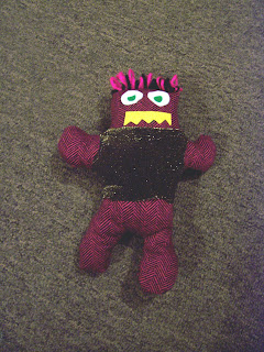 Monster made from bits   pieces of scrap fabric I have - I think that Grace  may have named him Fabio. 0fadd36c5e4ad