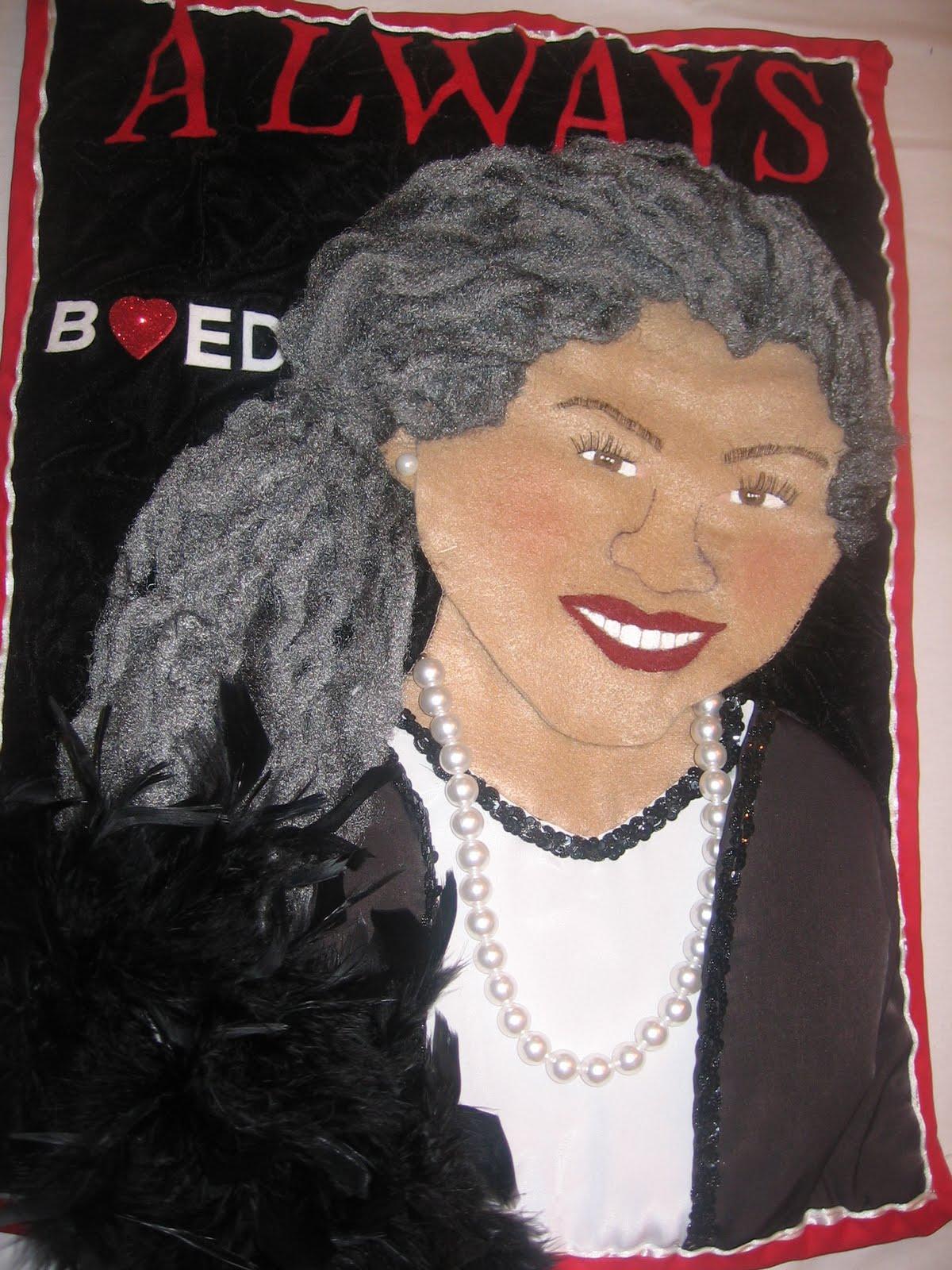 Toni Morrison art quilt
