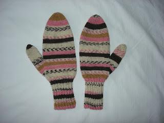 Yarn Floozies: sock yarn mittens