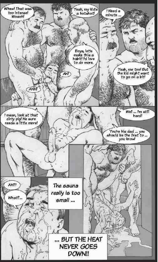 The sauna was to small porn comic