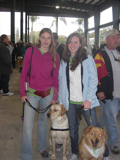Picture of Toby and I with another PR we met. She has a dog with her too, but she is not in training