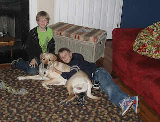 Picture of Toby with 2 young boys
