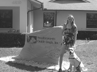 Black/white picture of Toby & I with the SEGDI sign - this is the LAST picture I have of both of us. Note, the shirt I'm wearing is the same one I wore when I first met Toby