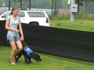 Picture of Rudy & I doing obedience outside the museum