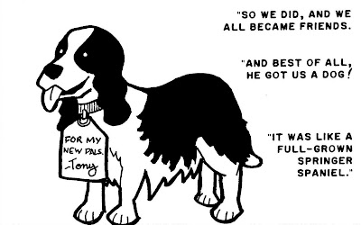 Possible names for the doggie: Crimson Dynomutt, Tony Bark, Man's-best-friend-arin