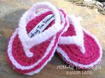 Crochet Baby Flip Flops