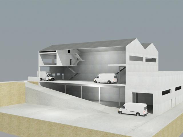 3d dise o y creatividad virtual proyecto basico de una - Diseno nave industrial ...