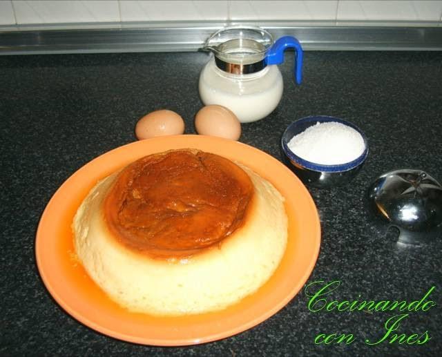 Cocinando con ines flan de huevo al microondas - Cocinando con microondas ...