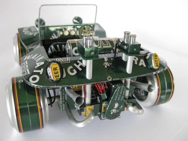 Model Cars Made From Beer Cans