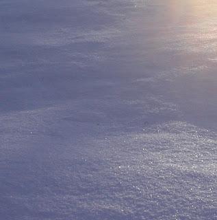 sunlight on fresh clean snow