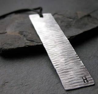 handmade aluminum waves bookmark