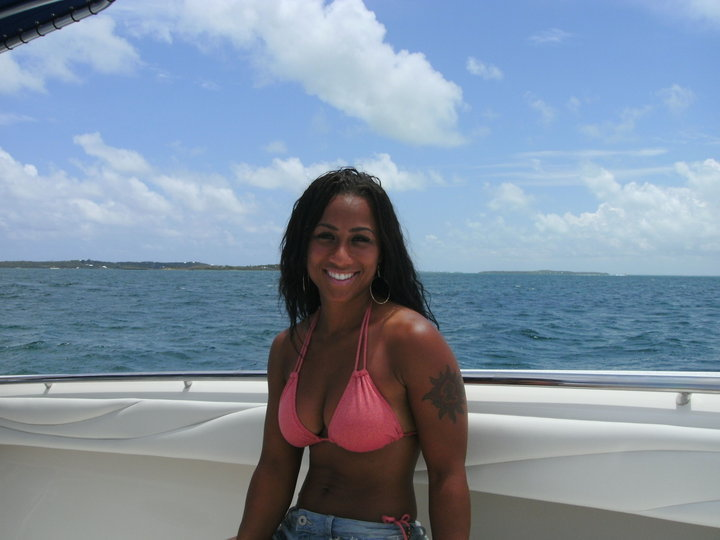 Hoopz on vacation in the Bahamas