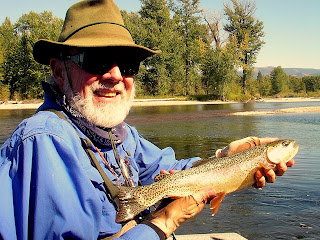 Doc Bolton with a cuttbow on the Bitterroot River