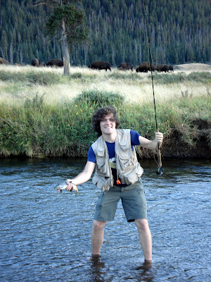 Nate Schweber on Soda Creek in Yellowstone Park