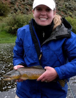 Becky Anderson w/Big Hole River Brown Trout