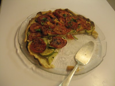 Goats' cheese quiche.