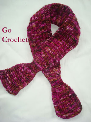 ASCOT KNITTED PATTERN SCARF   FREE Knitting PATTERNS