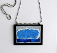 Blue Forest: Pendant Necklace by Will Wieber