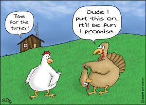 Sierra's Writing Adventure: Funny Cartoons for your Thanksgiving Day