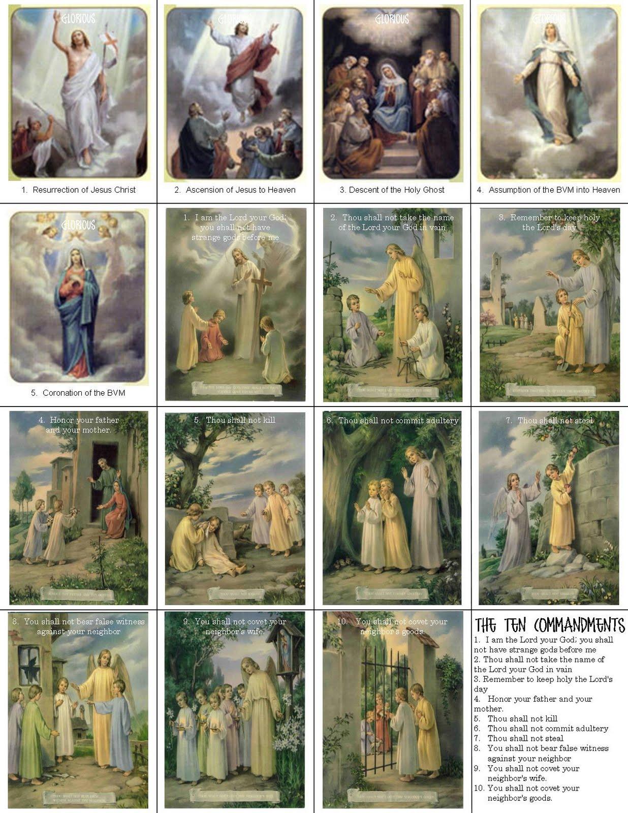 Catholic Ten Commandments Printable For Kids Commandments