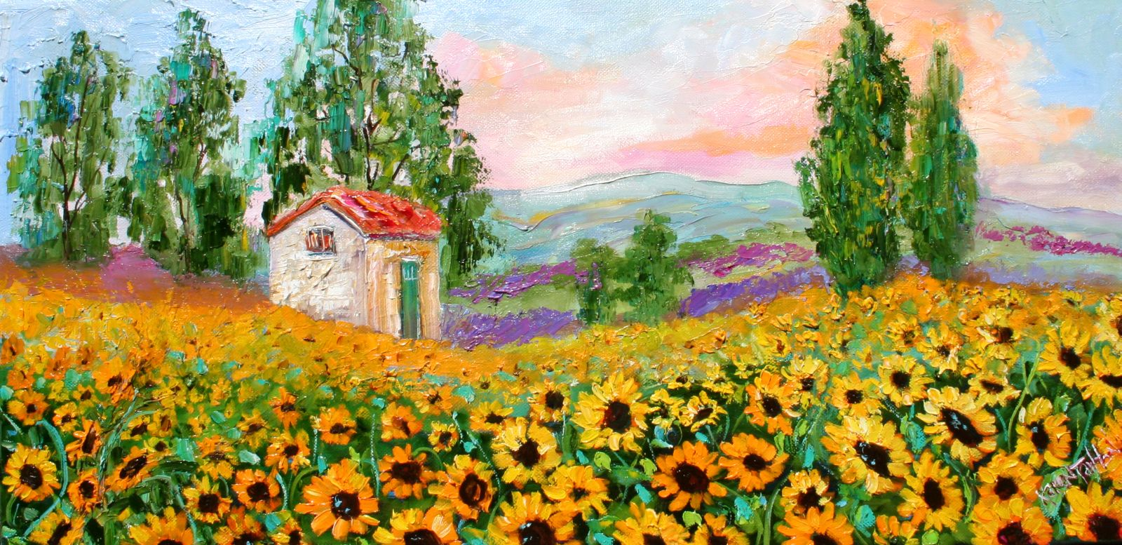 Karen Tarlton - Page 3 Tarlton+Original+Oil+Painting+Provence+Sunflowers+art+eBay+027i