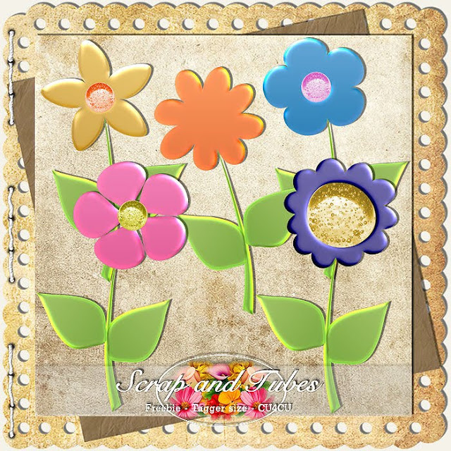 Summer Doodle Flowers (CU4CU) Summer+Doodle+Flowers_Preview_Scrap+and+Tubes