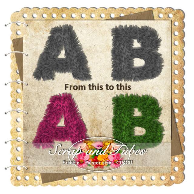 Alphabets Fur (CU4CU) Alphabet+Fur_Preview_Scrap+and+Tubes
