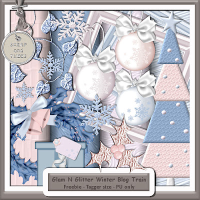 http://scrapandtubes.blogspot.com/2009/12/glam-n-glitter-blog-train-freebie.html
