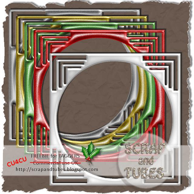 Classic Christmas Frames (CU4CU) SAT_Classic+Christmas+Frames_Preview_Scrap+and+Tubes