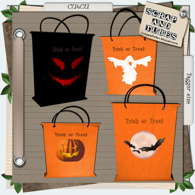 Halloween Bags (CU4CU) .Halloween+Bags_Preview_Scrap+and+Tubes