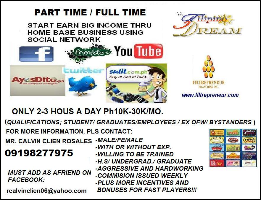 home base business using social network part time full time home