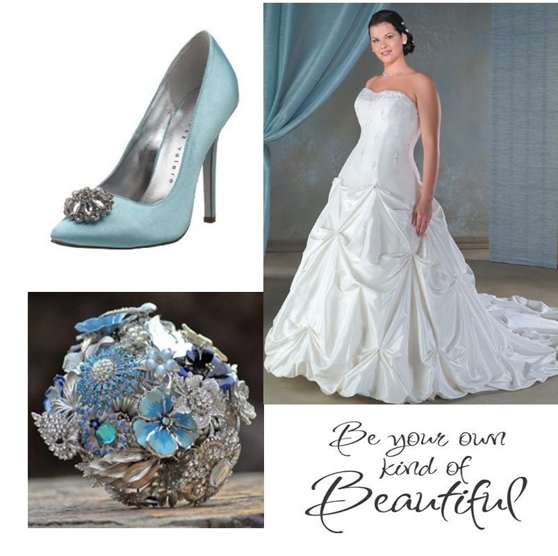 Blog be your own kind of beautiful for Wedding dresses with blue accents