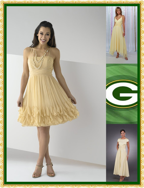 Bonnybridal blog february 2011 for Green bay packers wedding dress