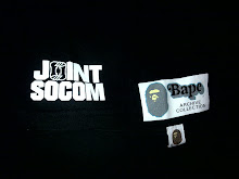 VTG BATHING APE DOUBLE APE TAPS ACHIVE COLLECTION x WTAPS x JOINT SOCOM SHIRT very rare(kat tangan)