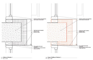 Storefront Shop Drawings, Curtain Wall Detail Drawings, Glazing