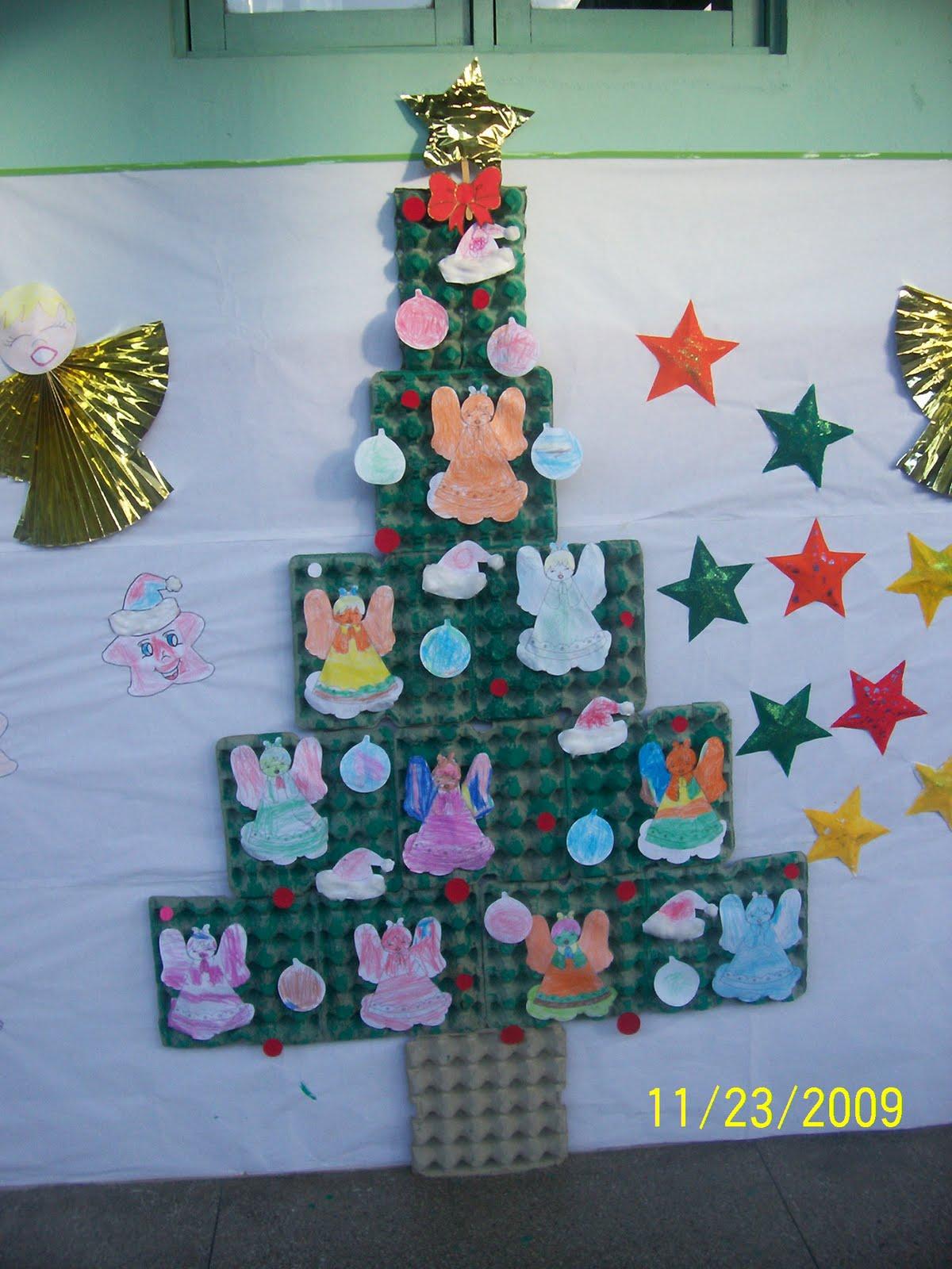 cantinho descobertas diarias mural para o natal