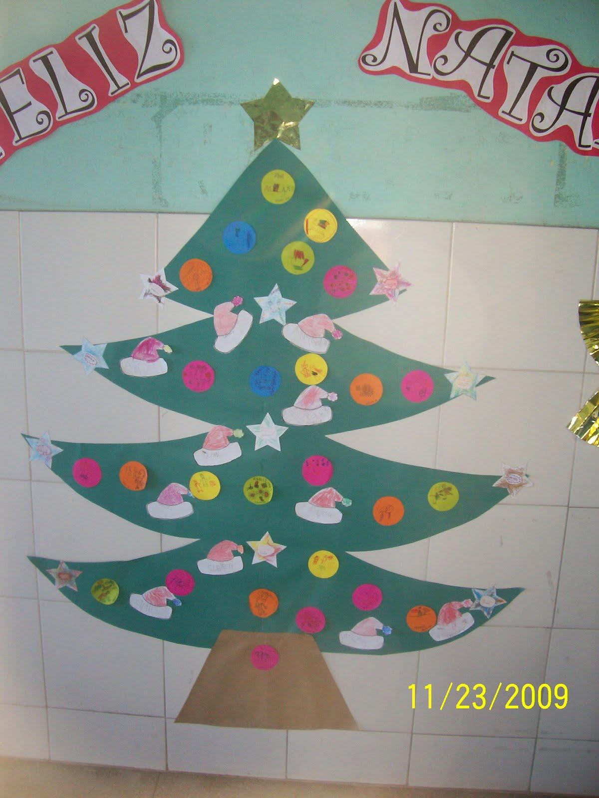 Cantinho descobertas diarias mural para o natal for Mural de natal 4 ano