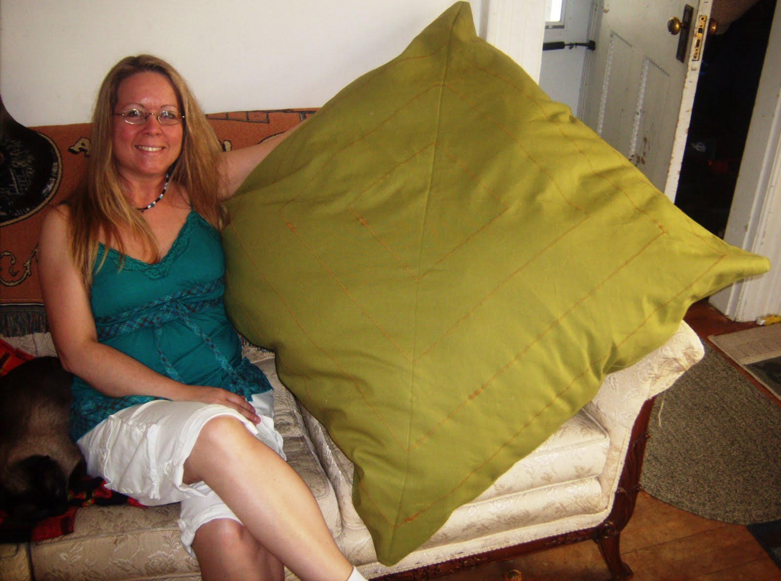 Floor Pillow To Watch Tv : Gina sCustomCreations: Paul s Giant Floor Pillow